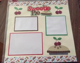 Sweetie Pie Scrapbook premade 12x12 Page