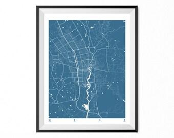 Napa Map Art Print / Napa City Poster / Napa Wall Art / California/ Gift / California home decor