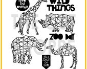 The Hul-La-Ba-Zoo cut file set includes 8 zoo themed images, that can be used for your scrapbooking and papercrafting projects.