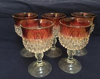 Vintage ruby wine glasses