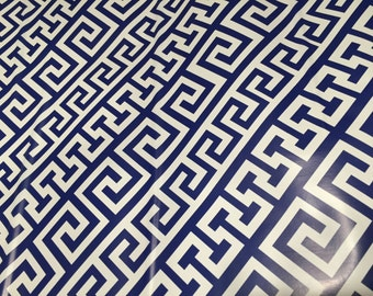"Contact paper, trendy geometric navy and white print, Adhesive Shelf Liner, vinyl.18""x10'"