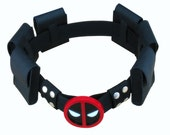 Xman super hero deadpool Wade Wilson belt with 6 bags Waistband for Deadpool funs and Cosplay Waist belt