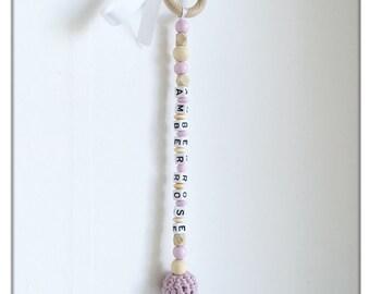 Personalized door hanger, doorknob hanger, baby room, personalized baby gift, wall hanger, baby girl gift, nursery decor, baby girl gift