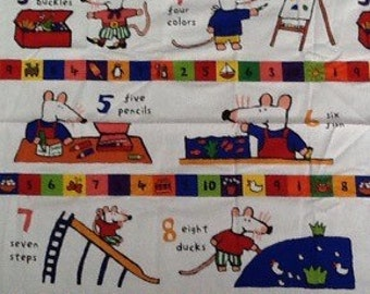 Maisy Mouse Counting To Ten Fabric Panel