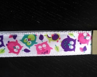 Wristlet Key Fob with Owls