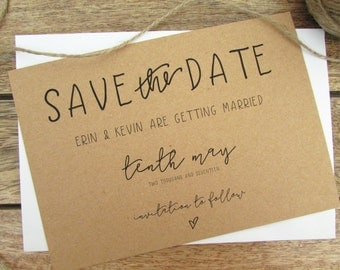 Lily Save the Date Card | Wedding Save the Date Card | Mini Save the Date Card & Envelope | Lily Collection