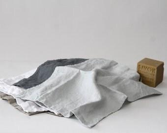 Linen Hand Towels (Small)/ Face Towel/ Linen Face Cloth/Linen Spa Towel