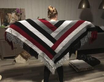 shawl red