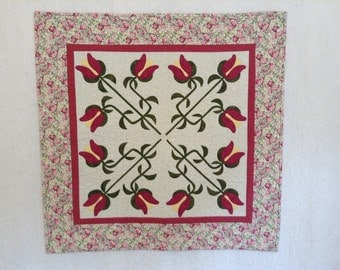 appliqué quilt, wallhanging, candle mat, patchwork quilt, table topper, table center