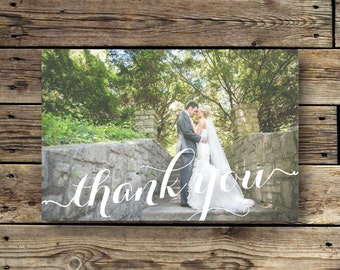 Printable Wedding Photo Thank You Card - The Lauren Collection