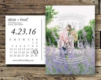 Printable Save the Date Photo Card