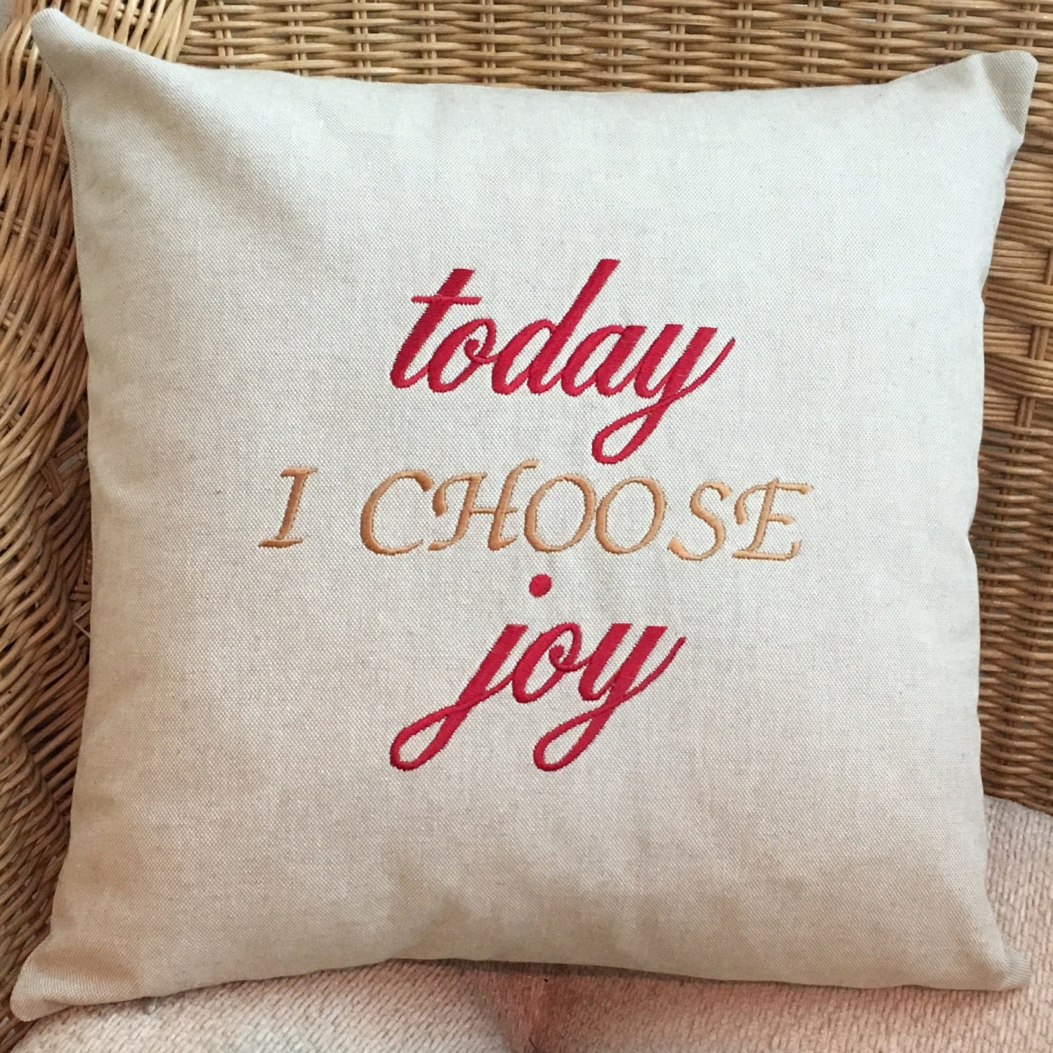 Decorative Throw Pillows With Words : Pillow Embroidered Pillow Decorative Pillow Word Pillow
