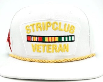 Strip club vet snapback white