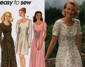 Misses'  Pullover Dress Sewing Pattern Simplicity 9887  Size 6, 8, 10 Bust 30 1/2, 31 1/2, 32 1/2 / Uncut