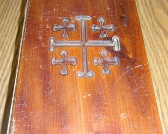 Vintage Bible with Wood Cover