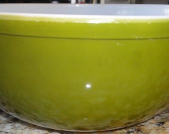 Vintage Large 1960's Olive Green Pyrex Bowl