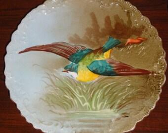 Vintage Handpainted Limoges France Plate /Flying Bird