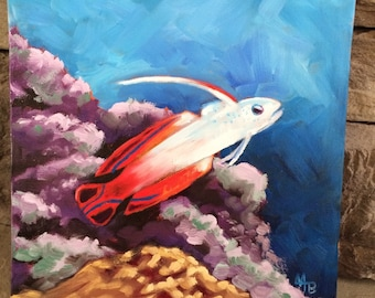 Fire Goby Fish - Original oil painting