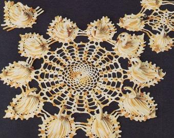Crochet Swan Doily Pattern,Instant Download, Vintage CROCHET PDF, 1960s,Crochet Swan,Swan,Crochet Doily Pattern,Digital Download Immediately
