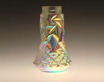 Czech Bohemian Rudolfova Hut Art Glass Iris Iridescent Vase