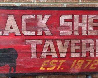 Distressed Bar Sign