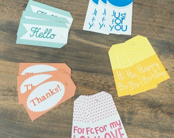 Set of 15 labels / tags (TG01)