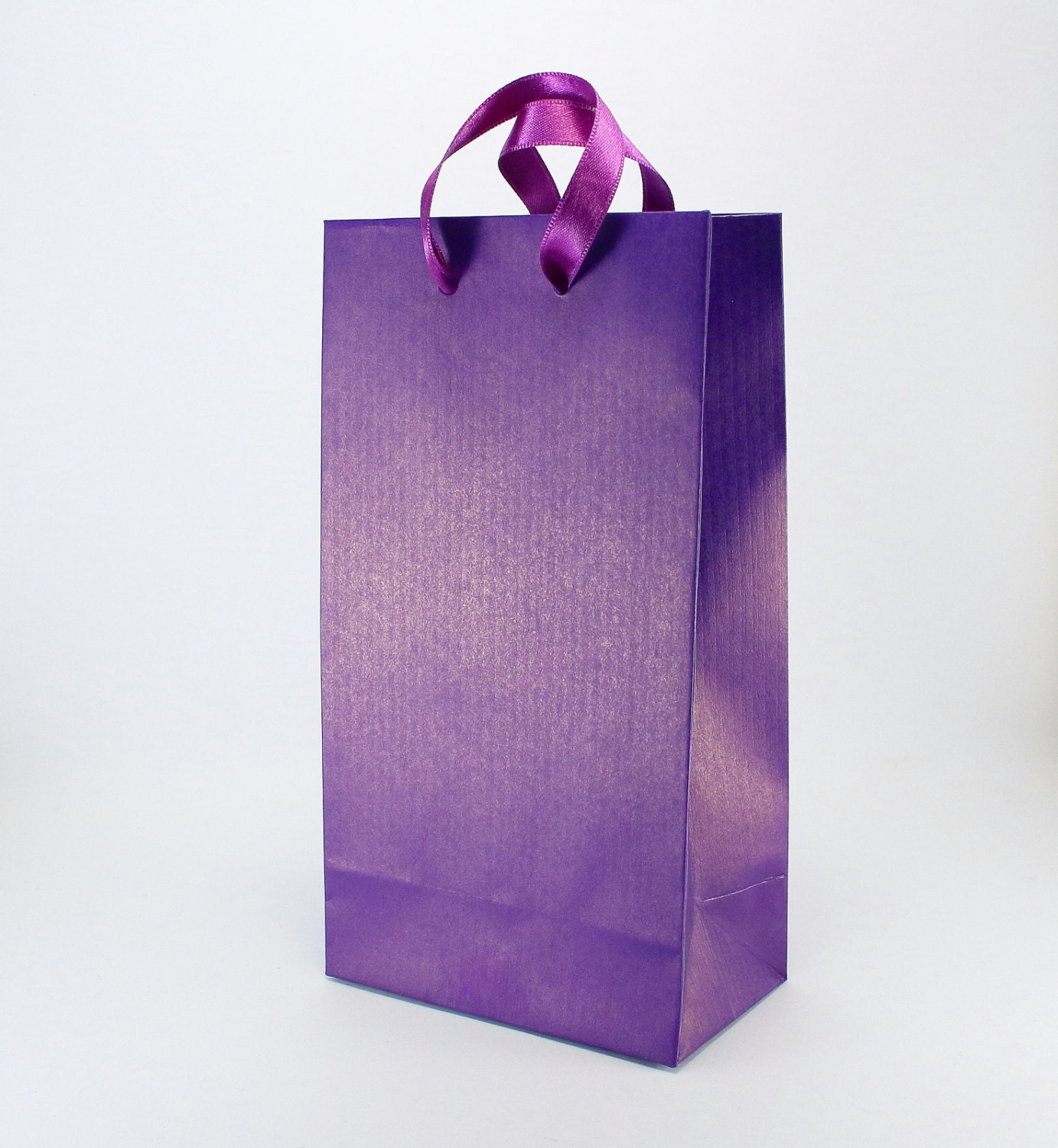 50 Paper Gift Bags W Handles Purple Gift Bags Small