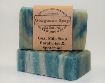 Eucalyptus & Spearmint Goat Milk Soap - All Natural Soap, Handmade Soap, Homemade Soap, Handcrafted Soap