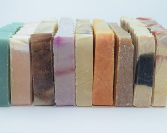 Soap Samples - Pick 10 Half Size Soaps for Soap Sampler Set, Small Soap Bar, Guest Soap, Mini Soaps, Sample Pack Soap, Sample Soap Bundle