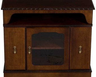 Vintage Small Entertainment Cabinet w DVD CD Storage
