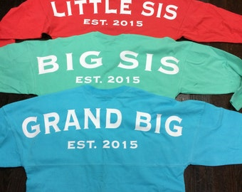 Big/Little/GBig Spirit Jersey for Any Sorority