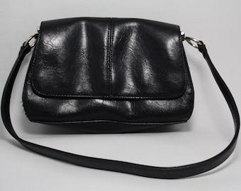 Vintage Retro Style Liz Claiborne Womans Girls Lady Handbag Bag Black Fashion