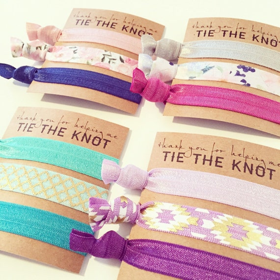DESIGN YOUR OWN Hair Tie Bridesmaid Gifts | Bohemian + Floral Bridesmaid Gift Hair Ties, Custom Boho Wedding Party Gifts, Gold Tribal Aztec