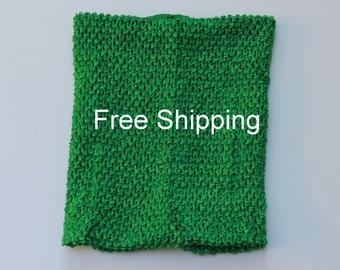 Lined Tutu Top - Ships Free - Green Crochet Top 12 X 10 inches Lined - Green Tutu Top Lined - Free Shipping - Waffle Crochet Top