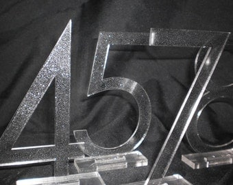 Glitter Cut Table Numbers - Sparkle - Customized to your font