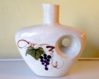Mod Painted Speckled Chinese Ceramic Wine Decanter Vase