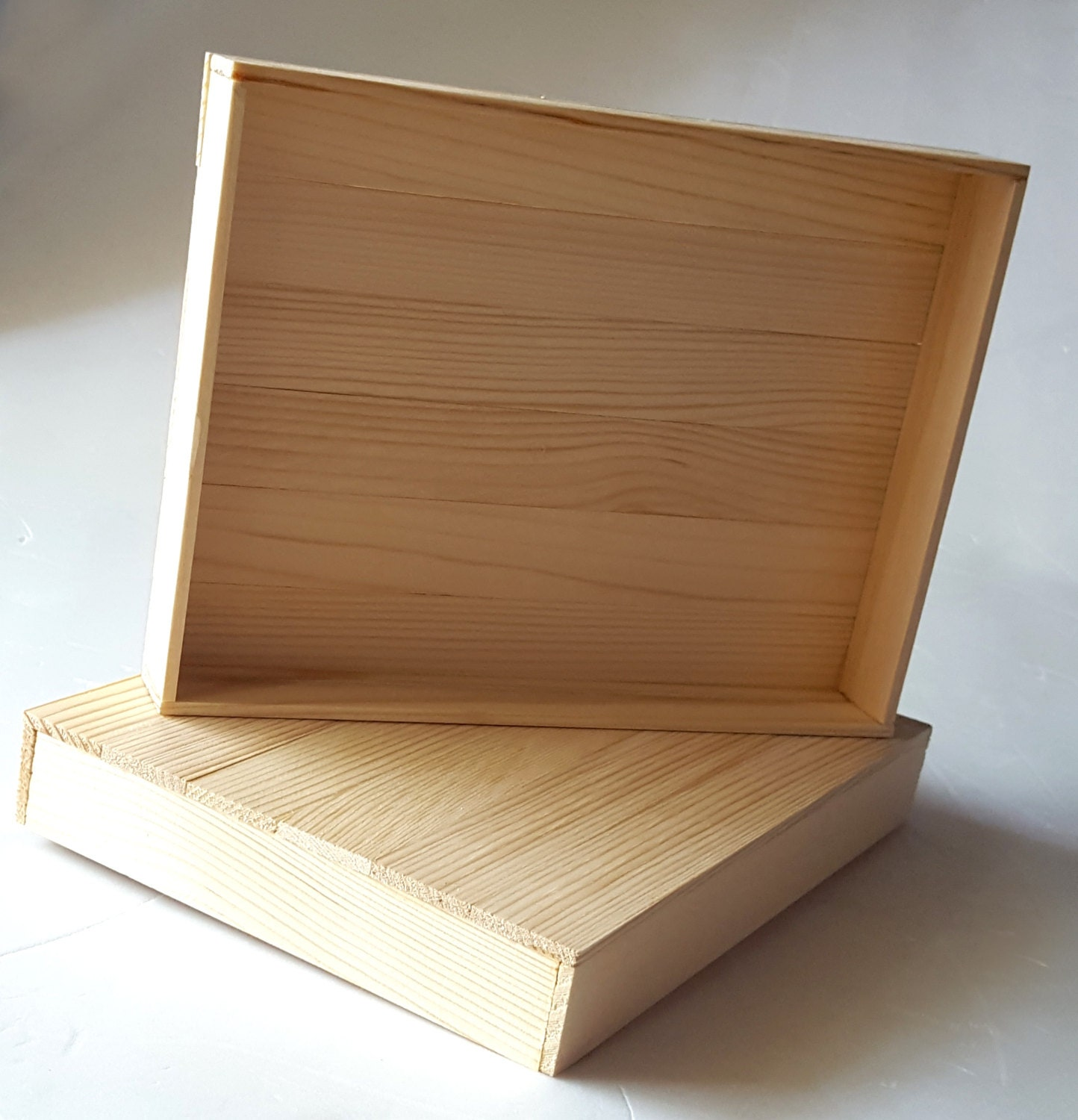 Unfinished wood craft boxes -  6 50