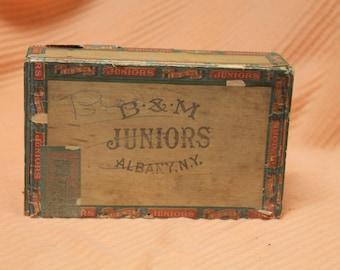 B&M Juniors  From Albany NY cigar box