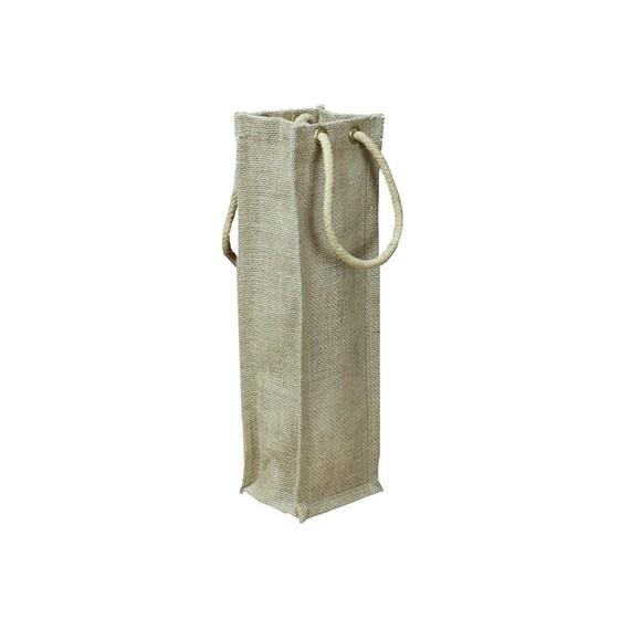Natural burlap wine bag rustic bags