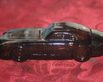 Vintage Brown Jaguar Car Bottle, Vintage Decanter Bottle