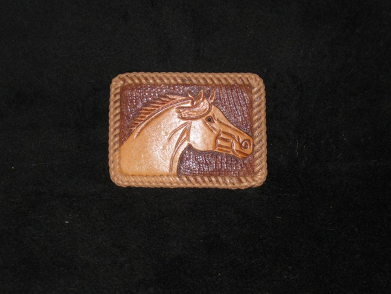 vintage leather belt buckle handmade leather buckle
