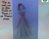 Princess Soap Bar - Glittery soap, Disney soap, Toy soap, Kids soap, Ariel, Aurora, Belle, Snow White, Jasmine, Mulan, Tiana