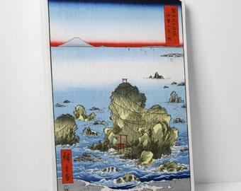 Japanese Art Hiroshige's Futamigaura Gallery Wrapped Canvas Print