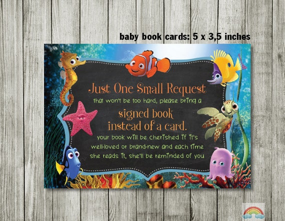 finding nemo baby shower boy girl bring a book instead of a card