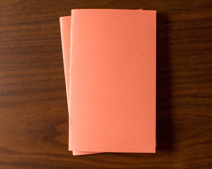 Coral Notebooks - 5 Pack Journal, Planner, Journal Insert, Planner Insert Mini Diaries, Jotters, Blank Books, Paper Notebook, bulk