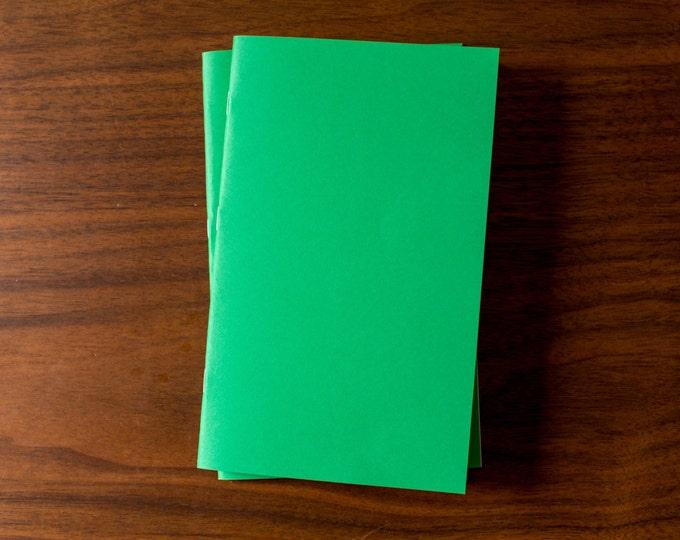 Green Notebooks - 2 Pack Journal, Planner, Journal Insert, Planner Insert Mini Diaries, Jotters, Blank Books, Paper Notebook, bulk