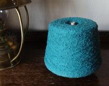 Forest Green Blend Boucle Yarn Cone 37 oz 1.048kg. KNITTING - WEAVING - Crochet cone spool knitting machine hand knitting