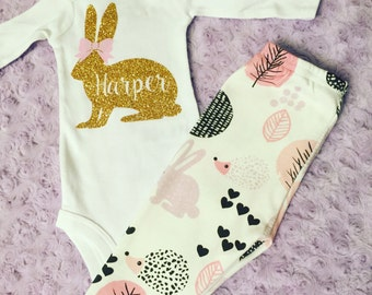 Baby easter outfit. First Easter. Easter outfit. Bunny outfit. Easter leggings. Porcupine leggings. Bunny leggings. Baby leggings. Easter