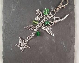 Triathlon Gift Bag Charm - triathlete gift - sport gift - coach gift - running gift - swimmer gift - bike gift - race gift - sport jewellery