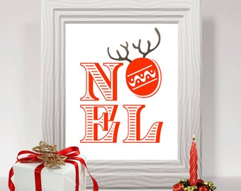 INSTANT DOWNLOAD Christmas wall art printable winter decor holiday decoration christmas art print NOEL printable art wall decoration